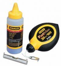 Sznur traserski Stanley FatMax® zestaw 30 m + kreda 115 g + poziomnica sznurkowa