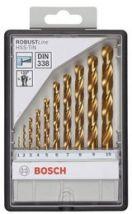 Zestaw wierteł do metalu HSS-TiN Robust Line, 10 szt.135° Bosch