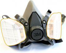Półmaska oddechowa wielokrotnego użytku 3M 6200 z filtrami