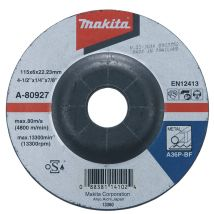 Tarcza szlifierska do metalu 115x6x22mm Makita