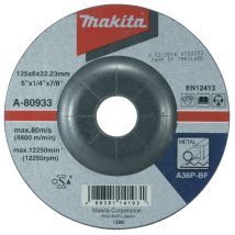 Tarcza szlifierska do metalu 125x6x22mm Makita