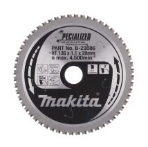 Tarcza tnąca specjalizowana 136x20mm, 56z Makita
