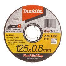Tarcza tnąca do met./stali nierdz. 0.8mm 125mm Makita B-45733