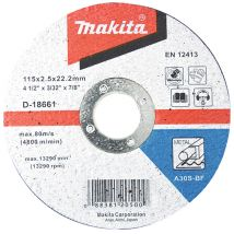 Tarcza tnąca do metalu 125x3mm A30S (wypukła) Makita D-18574