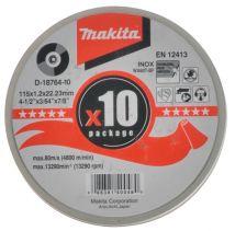 Tarcza tnąca INOX 115mm (10szt w tubie) Makita