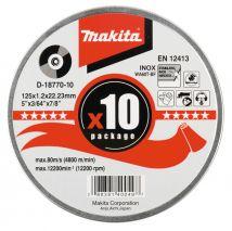 Tarcza tnąca INOX do stali 125x1.2mm WA60T (10szt) Makita
