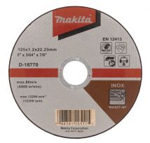 Tarcza tnąca inox 125x1.2mm wa60t (płaska) Makita D-18770