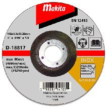 Tarcza tnąca inox 115x1.2mm wa60t (wypukła) Makita