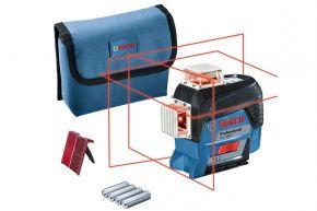 Laser liniowy GLL 3-80 C Professional z 4 bateriami (AA), adapterem Bosch