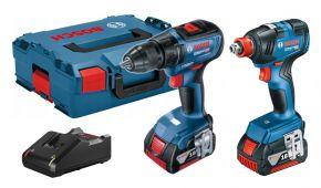 Zestaw GSR 18V-50 GDX 18V-200 2X4,0Ah L-BOXX Professional Bosch