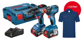 Zestaw GSR 18V-50 GDX 18V-200 2X4,0Ah L-BOXX + koszulka PROMO Professional Bosch