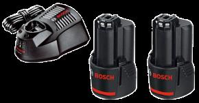 Ładowarka GAL1230CV + 2 akumulatory GBA12V 2,0Ah Bosch