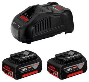Zestaw startowy: 2 akumulatory GBA 18V 5.0Ah + GAL 1880 CV  Bosch Professional