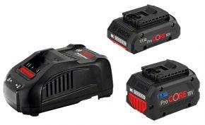 Zestaw startowy: 1 akumulator ProCORE18V 4.0Ah + 1 akumulator ProCORE18V 5.5Ah + ładowarka GAL 1880 CV Bosch Professional