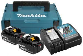 Zestaw zasilający 18V MAKPAC (BL1850Bx2+DC18RC) 197624-2 Makita
