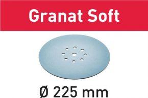 Krążki ścierne STF D225 P80 GR S/25 Granat Soft 204221 Festool