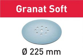 Krążki ścierne STF D225 P320 GR S/25 Granat Soft 204227 Festool