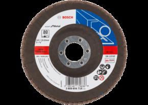 Listkowa tarcza szlifierska X551 Wygięta Bosch Expert for Metal 125 P80