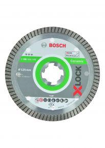 Diamentowa tarcza tnąca Best for Ceramic Extraclean Turbo z systemem X-LOCK, 125x22,23x1,4x7 125 x 22,23 x 1,4 x 7 mm Bosch