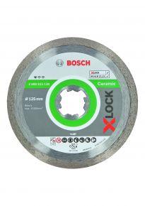 Diamentowa tarcza tnąca Standard for Ceramic z systemem X-LOCK, 125x22,23x1,6x7 125 x 22,23 x 1,6 x 7 mm Bosch