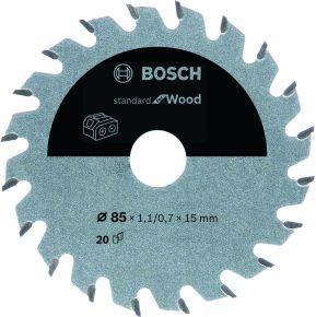 Ostrze do piły tarczowej bezprzewodowej Standard for Wood 85 x 1,1 / 0,7 x 15 T20 Bosch