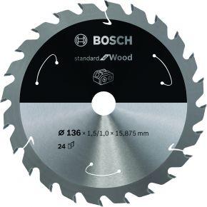 Ostrze do piły tarczowej bezprzewodowej Standard for Wood 136 x 1,5 / 1 x 20 T24 Bosch