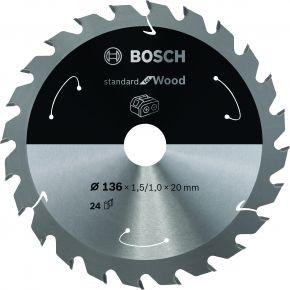 Ostrze do piły tarczowej bezprzewodowej Standard for Wood 140 x 1,5 / 1 x 12,7 T24 Bosch