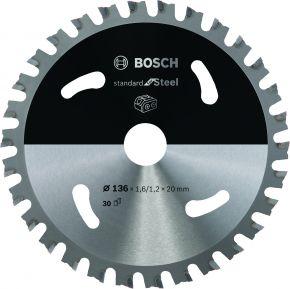 Ostrze do piły tarczowej bezprzewodowej Standard for Steel 136 x 1,6 / 1,1 x 20 T30 Bosch