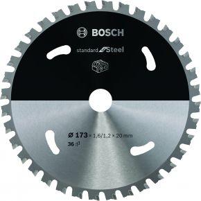 Ostrze do piły tarczowej bezprzewodowej Standard for Steel 173 x 1,6 / 1,1 x 20 T36 Bosch