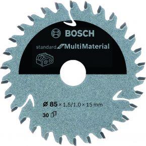 Ostrze do piły tarczowej bezprzewodowej Standard for Multimaterial 85 x 1,5 / 1 x 15 T30 Bosch