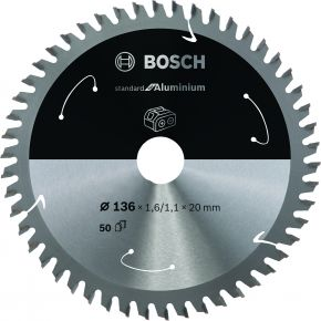 Ostrze do piły tarczowej bezprzewodowej Standard for Aluminium 150 x 1,8 / 1,3 x 20 T52 Bosch