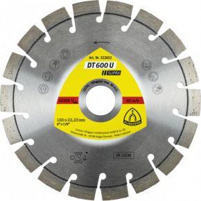 Tarcza diamentowa do cięcia materiałów budowlanych, betonu i piaskowca DT 600 U Supra KLINGSPOR