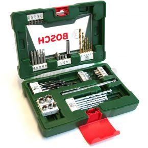 V-line Wiertła TiN z zestawem końcówek  wkręcających ze wskaźnikiem magnetycznym 48 szt Bosch