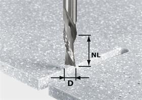 Frez do zdzierania i wygładzania, HW z trzpieniem 12 mm HW Spi D12/42 LD ss S12 Festool