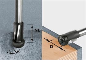 Frez do wyrównywania, HW z trzpieniem 12 mm HW D19/25 ss S12 Festool