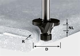 Frez do zaokrągleń, HW z trzpieniem 12 mm HW R3/D22 ss S12 Festool