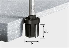 Frez do wyrównywania, HW z trzpieniem 12 mm HW D28/25 ss S12 Festool