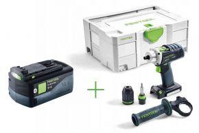 Akumulatorowa wiertarko-wkrętarka QUADRIVE DRC 18/4 Li-Basic + Akumulator BP 18 Li 5,2 ASI Festool