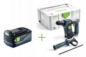 Młotowiertarka akumulatorowa BHC 18 Li-Basic + Akumulator BP 18 Li 5,2 ASI (574723+202479) Festool
