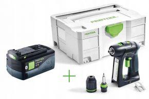 Akumulatorowa wiertarko-wkrętarka C 18 Li-Basic + Akumulator BP 18 Li 5,2 ASI Festool