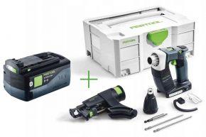 Akumulatorowa wkrętarka budowlana DURADRIVE DWC 18-4500 Li-Basic + Akumulator BP 18 Li 5,2 ASI (574747+202479) Festool