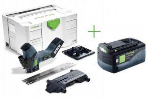 Akumulatorowa ręczna pilarka tarczowa HKC 55 Li EB-Basic + Akumulator BP 18 Li 5,2 ASI (574821+202479) Festool