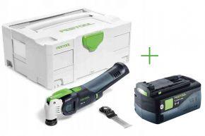 Akumulatorowe urządzenie wielofunkcyjne VECTURO OSC 18 Li E-Basic + Akumulator BP 18 Li 5,2 ASI (574848+202479) Festool