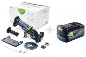 Akumulatorowa ręczna pilarka tarczowa HKC 55 Li EB-Basic + Akumulator BP 18 Li 5,2 ASI (575759+202479) Festool