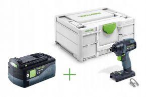 Akumulatorowa zakrętarka udarowa TID 18-Basic + Akumulator BP 18 Li 5,2 ASI (576481+202479) Festool