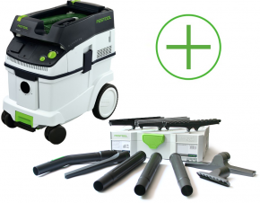 CTL36E Odkurzacz mobilny Festool CTL 36 E + Kompaktowy zestaw do czyszczenia D 27/D 36 K-RS-Plus
