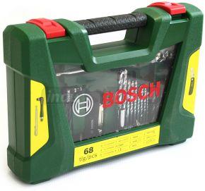 V-line Wiertła oraz zestaw końcówek wkręcających z nożem, wskaźnikiem magnetycznym oraz wkrętakiem dwustronnym 68 szt Bosch