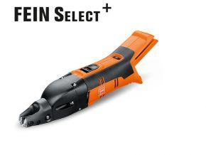 Akumulatorowe nożyce do blachy o grubości do 1,6 mm ABSS 18 1.6 E Select Fein
