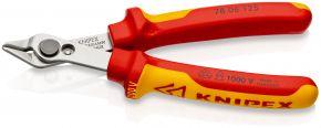 Szczypce tnące Electronic Super Knips® VDE izolowane wg VDE 125 mm SB Knipex