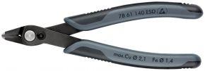 Szczypce tnące Electronic Super Knips® XL ESD czernione 140 mm SB Knipex